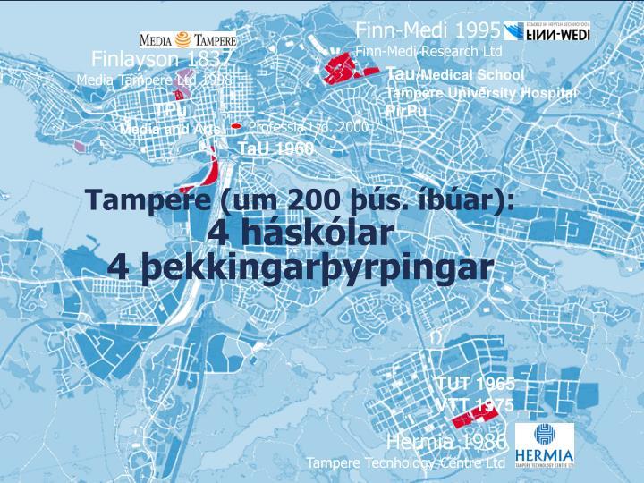 Tampere (um 200 þús. íbúar):