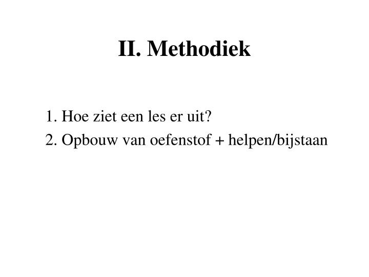 II. Methodiek