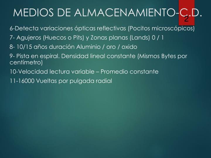 6-Detecta variaciones ópticas reflectivas (Pocitos microscópicos)