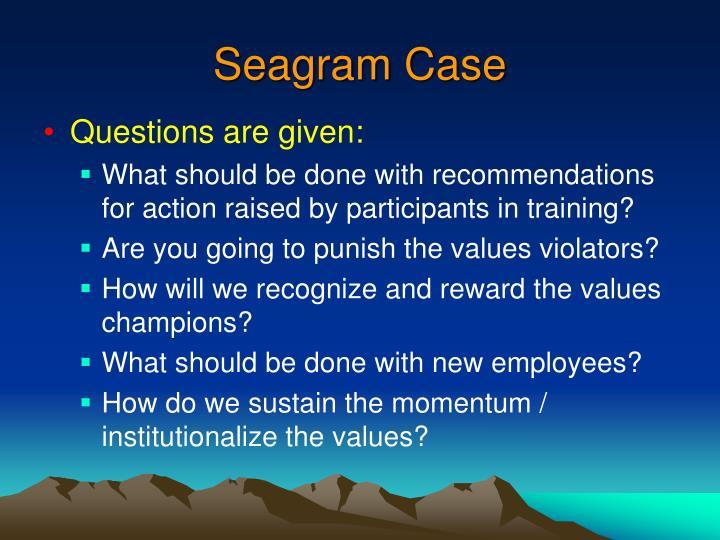 Seagram Case