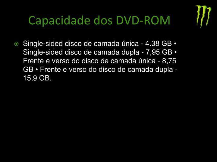 Capacidade dos DVD-ROM
