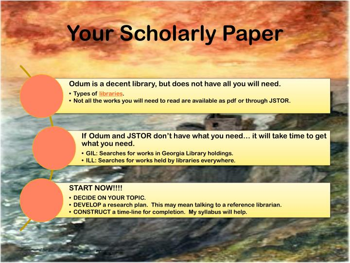 Your Scholarly Paper