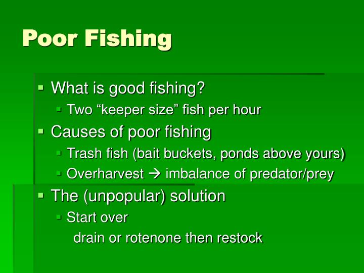 Poor Fishing