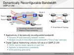 dynamically reconfigurable bandwidth gmpls uni