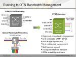 evolving to otn bandwidth management