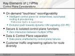 key elements of l1vpns control plane considerations