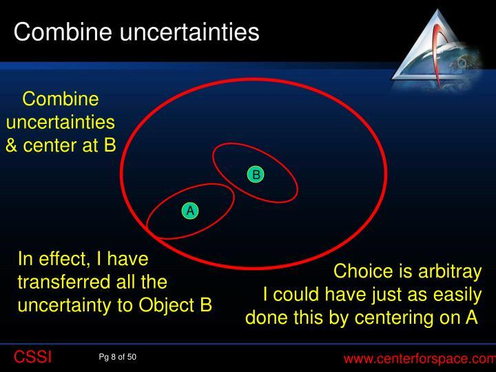 Combine uncertainties