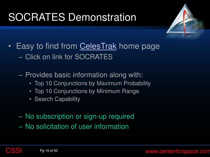SOCRATES Demonstration