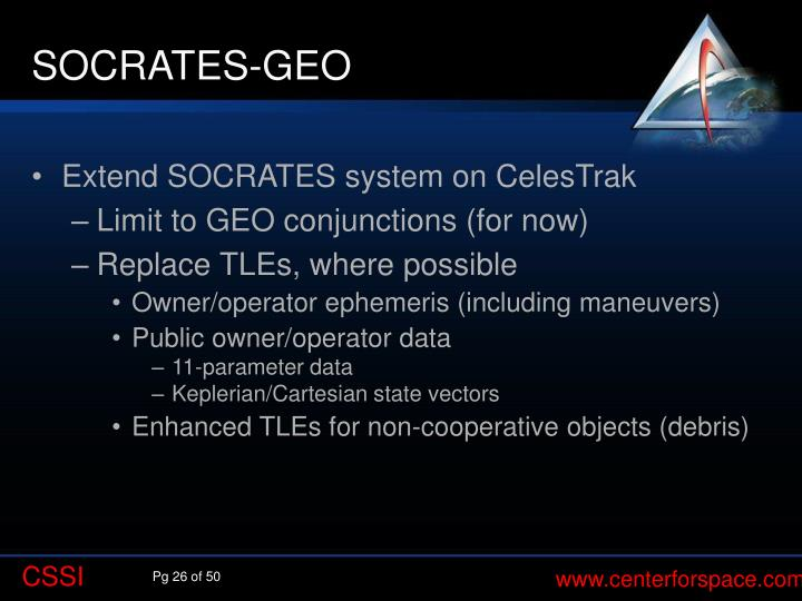 SOCRATES-GEO