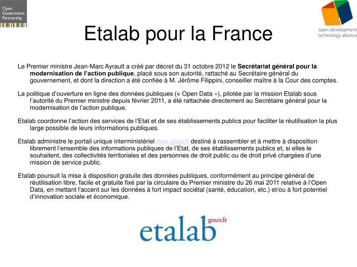 Etalab pour la France
