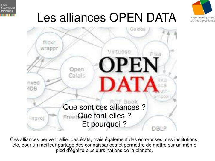 Les alliances open data