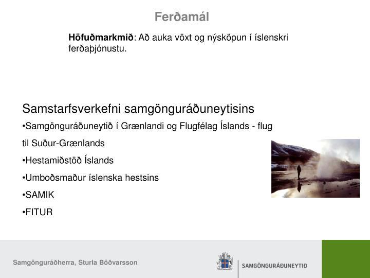 Höfuðmarkmið