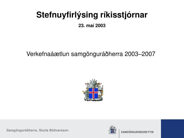 23. maí 2003