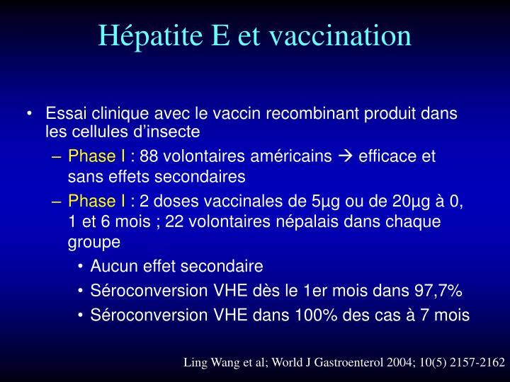 Hépatite E et vaccination