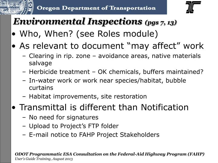 Environmental Inspections