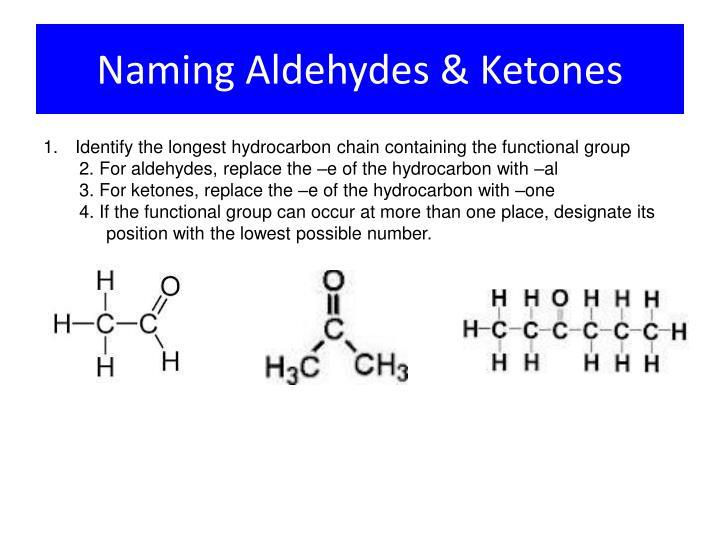 Naming Aldehydes & Ketones