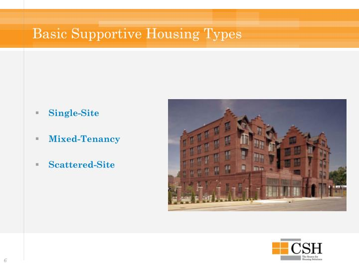 Basic Supportive Housing Types