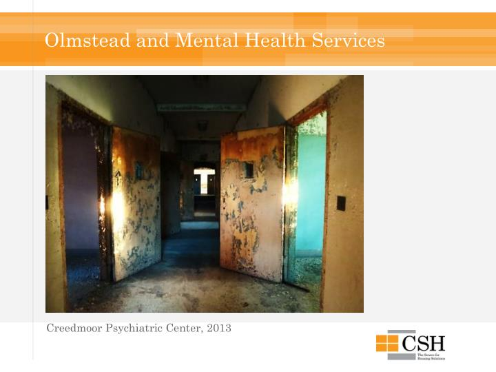 Olmstead and Mental Health Services