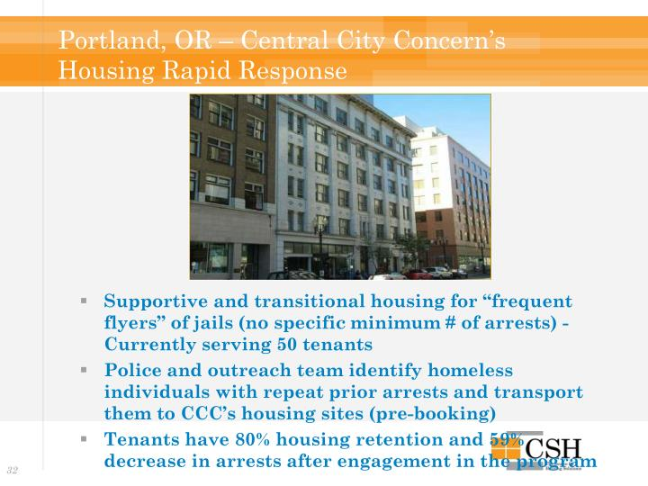 Portland, OR – Central City Concern's Housing Rapid