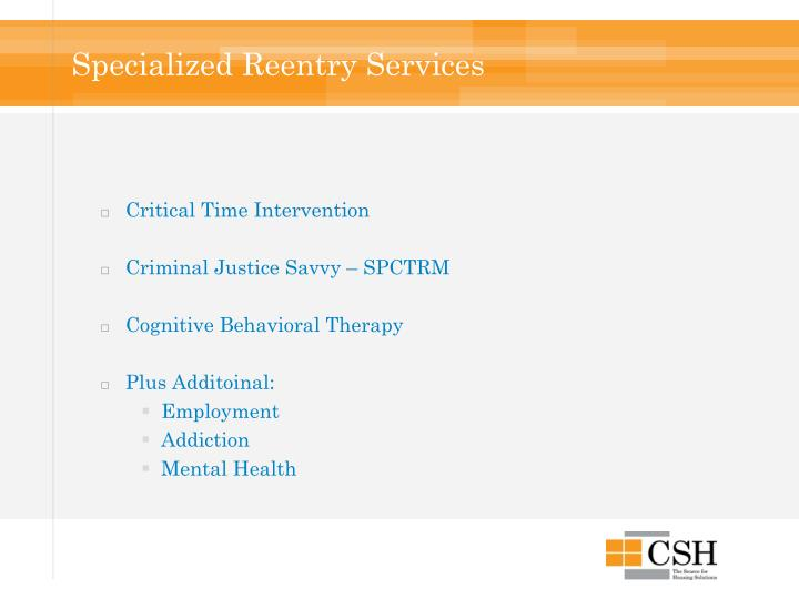 Specialized Reentry Services