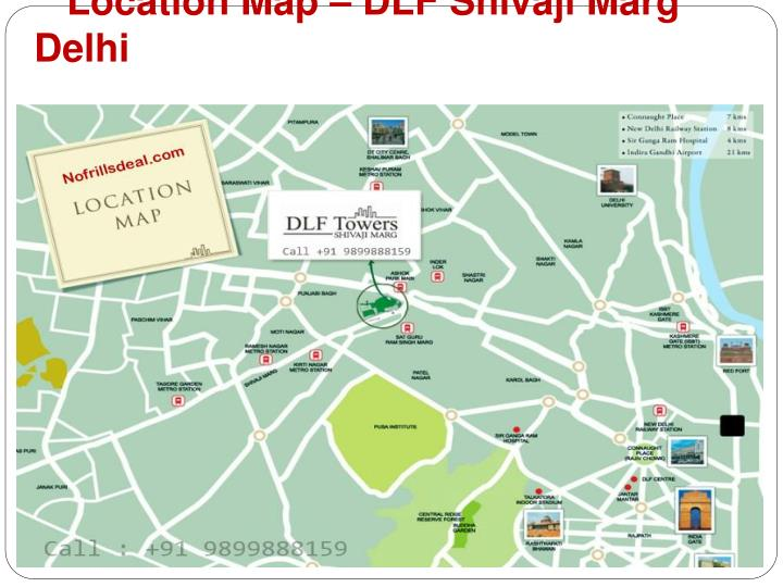 Location map dlf shivaji marg delhi
