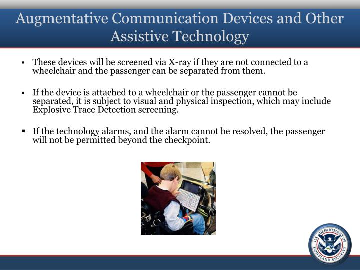 Augmentative Communication Devices and Other Assistive Technology