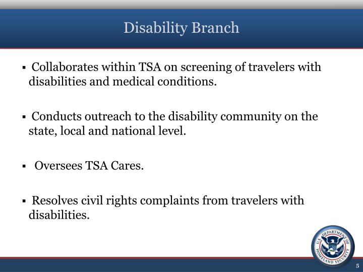 Disability Branch