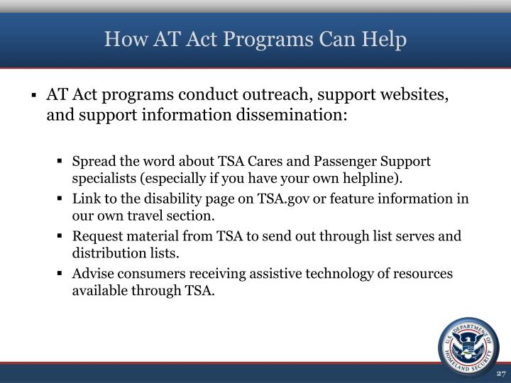 How AT Act Programs Can Help