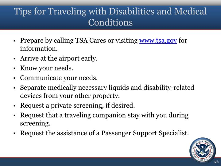 Tips for Traveling with Disabilities and Medical Conditions