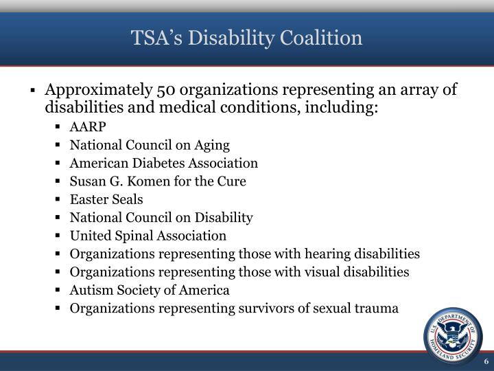 TSA's Disability Coalition