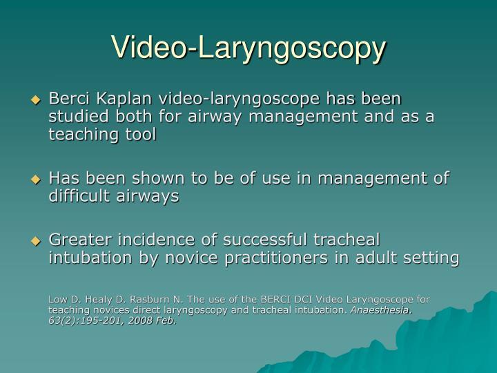 Video-Laryngoscopy