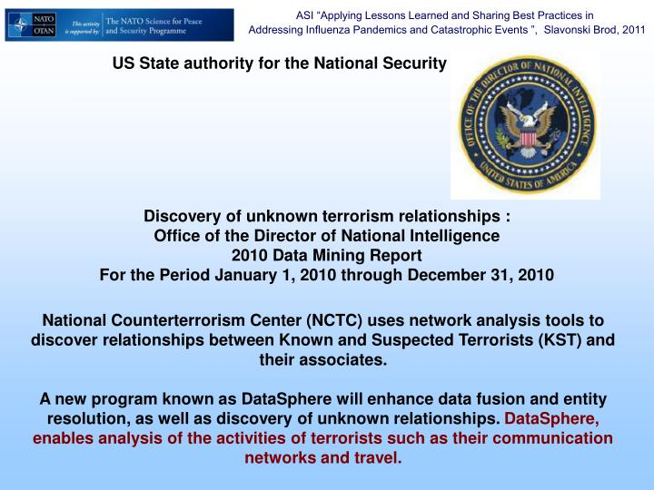 US State authority for the National Security