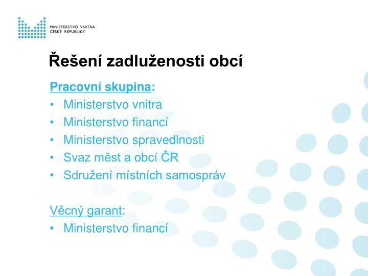Řešení zadluženosti obcí