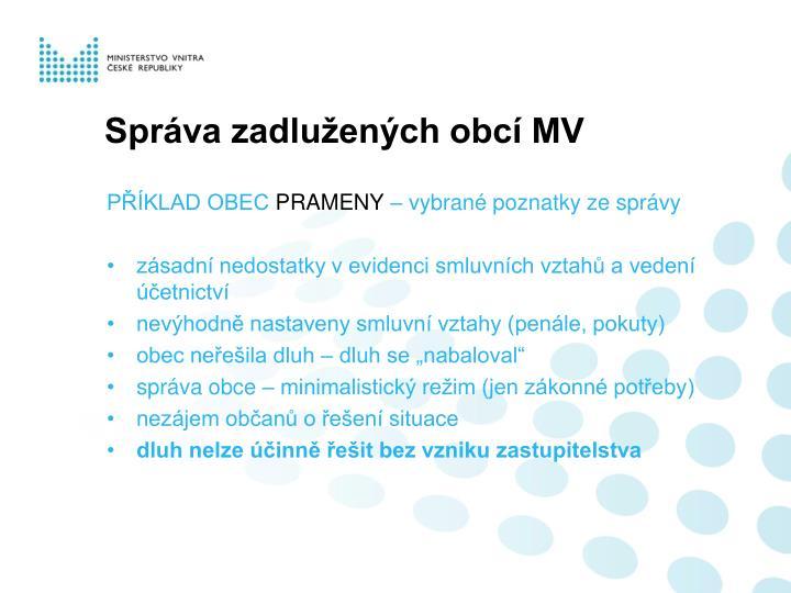 Správa zadlužených obcí MV