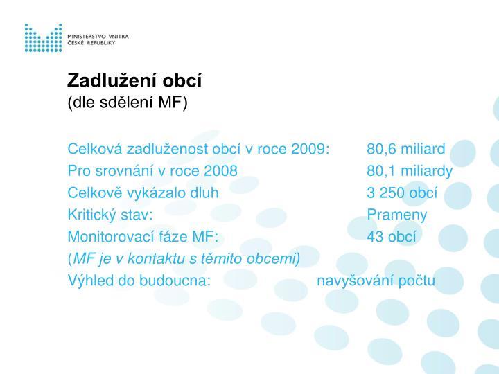 Zadlužení obcí