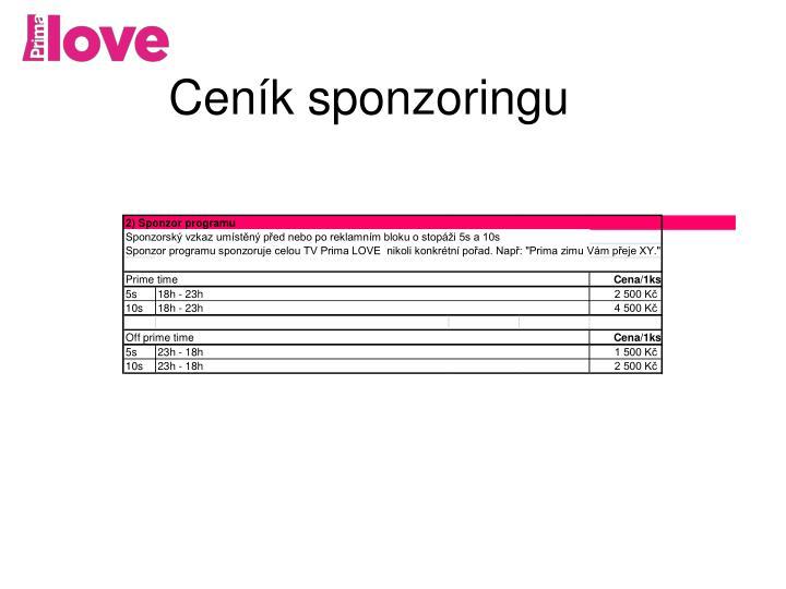 2) Sponzor programu