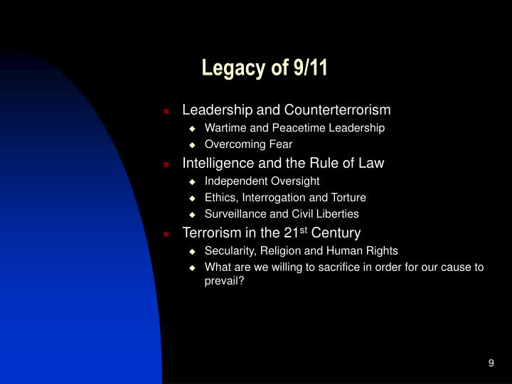 Legacy of 9/11