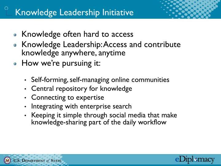 Knowledge Leadership Initiative