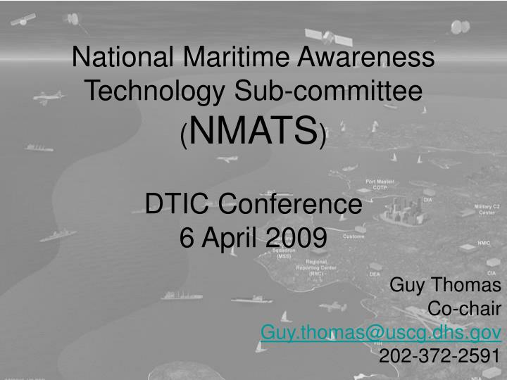 National Maritime Awareness Technology Sub-committee