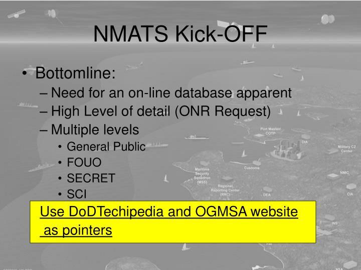 NMATS Kick-OFF