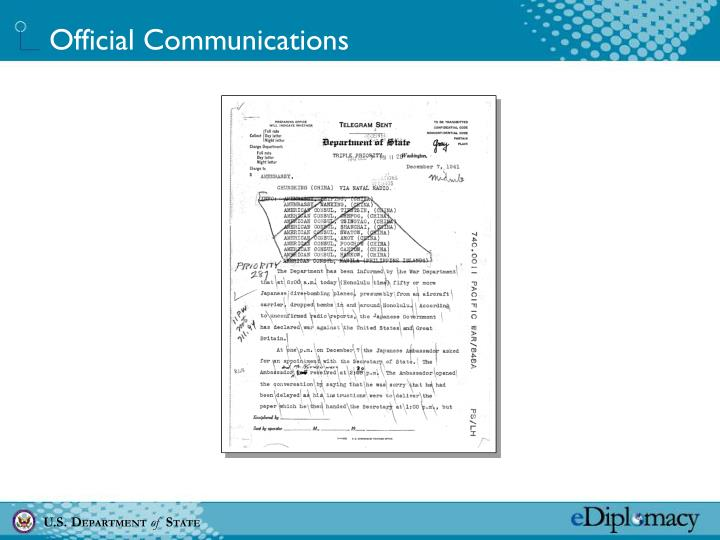 Official Communications
