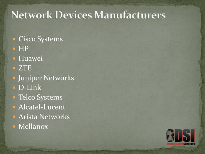 Network Devices Manufacturers