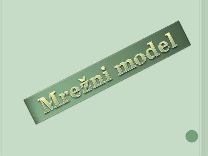 Mrežni model
