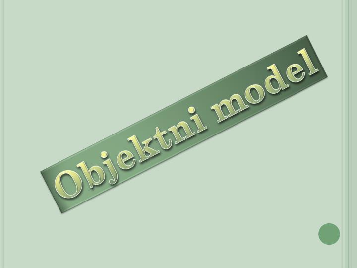 Objektni model