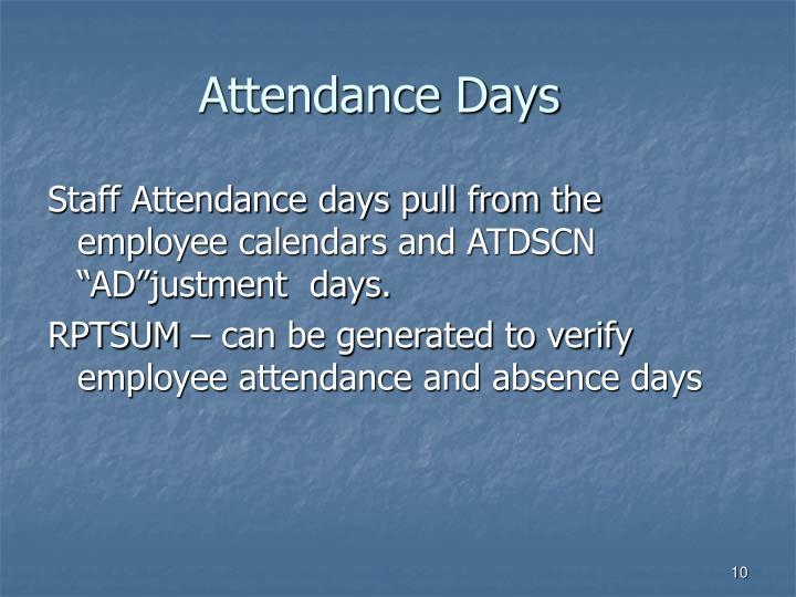 Attendance Days
