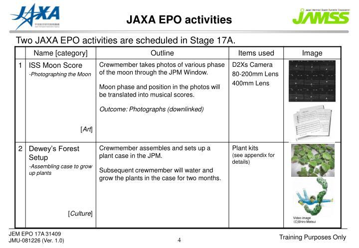 JAXA EPO activities