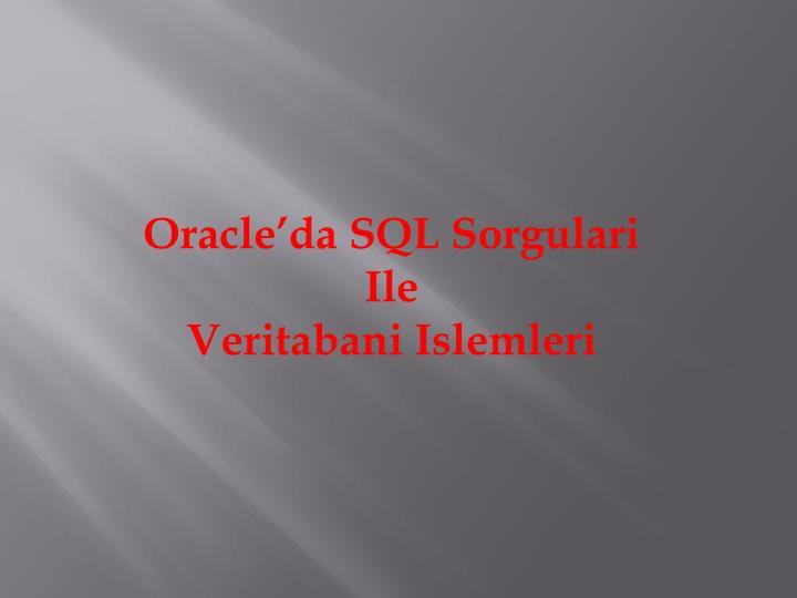 Oracle'da