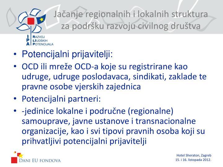 Jačanje regionalnih i lokalnih struktura za podršku razvoju civilnog društva