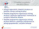 prijedlozi projekata ipa 2012 2013
