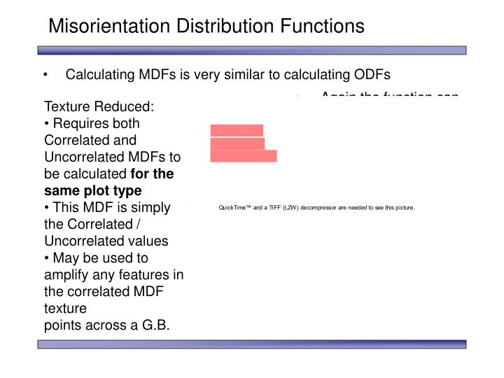 Misorientation Distribution Functions